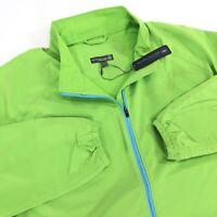 NEW Peter Millar Crown Sport Golf Wind Jacket Mens Large Bright Green $145
