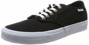 VANS Skateboarding Shoes CAMDEN Lace Up Black / White Sizes: UK 6, 7