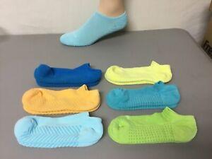 Women's HUE Massaging Sole Cotton No Show Socks Size Medium Multi 6 Pair #226W