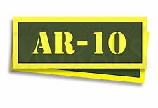 "AR-10 Ammo Can Labels for Ammunition Case 3"" x 1"" stickers decals 2 PACK -AG"