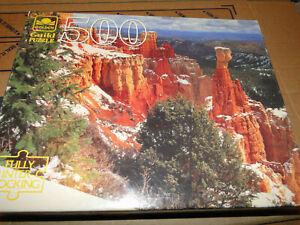 NEW! Golden Guild 500 Pieces Puzzle of Aqua Canyon Utah |  Ages 10+