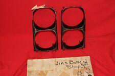 1968 GTO Headlight Bezels NOS