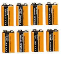 8 Single Duracell Procell 9 V Block Alkaline Battery  PP3 6LR61 MN1604 Batteries