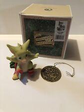 """Christmas Skates"" Whimsical World Pocket Dragons With Box and ornament"