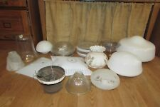 Vintage Replacement Light Lamp Globe Shade Parts Art Deco Hurricane Clear #3052