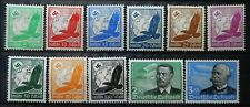 GERMANY - AIR MAIL ZEPPELIN 1934 MI: 529 - 539 MH