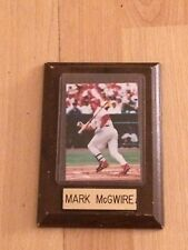 Vintage Collectible Mark McGwire Baseball Card / Photo Wooden Wood Plaque