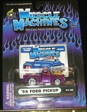 Muscle Machines 1/64 Scale 56' Ford Pickup #01-20 Purple