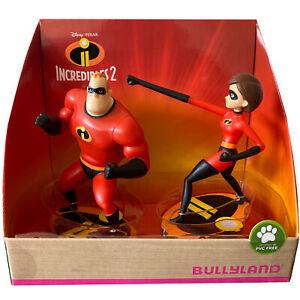 Bullyland Disney Incredibles 2 Mr. Incredible & Elasticgirl Actionfiguren Neu