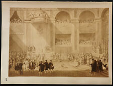 1926 - Lithographie : Napoléon, Sépia d'Isabey, Louvres
