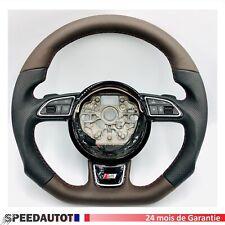 Original Sport Volant aplatie audi a4 b9 Type 8 W AMF volant cuir marron NOUVEAU!
