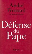 ANDRE FROSSARD DEFENSE DU PAPE + PARIS POSTER GUIDE