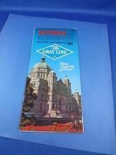 GRAY LINE TERMINAL BUS TOUR 1966 ADVERTISING BROCHURE VANCOUVER & VICTORIA BC