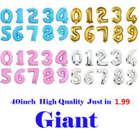 "40"" Giant Foil Number Balloons Helium Large Baloons Happy Birthday Party Gift"