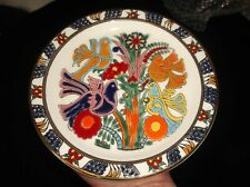COLLECTABLE BOLD HAND PAINTED BIRDS & FLORAL DESIGN DISPLAY PLATE ELAFOS RHODES