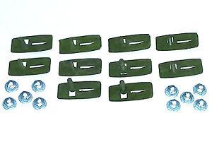 NOS Ford Body Lower Rocker Belt Side Trim Moulding Molding Clips & Nuts 10pcs N