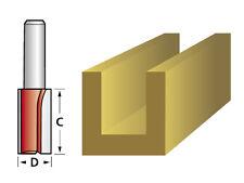 """FAITHFULL 1/4"""" SHANK TWIN 2 FLUTE TCT ROUTER BIT CUTTER - 9mm x 19mm"""