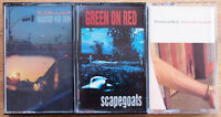 3x GREEN ON RED CASSETTE TAPES - ALL EXCELLENT CONDITION - US ALT ROCK