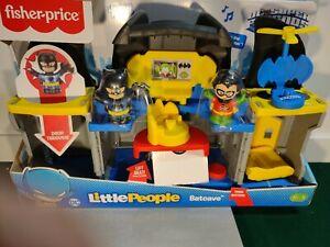 NIB Fisher-Price Little People DC Super Friends Batcave Toy Set Batman, Robin