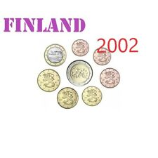 Complete Set - Serie - 2002 FINLANDE 8 coins  pieces - 3,88 EURO fdc FINLAND