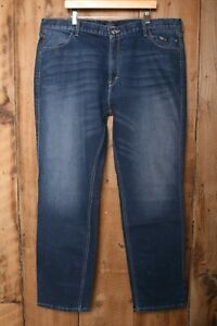 HARLEY DAVIDSON FXRG Armalith Stretch Denim Jeans Sz. 44x34 (Irregular)