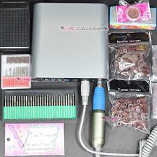 Electric Acrylic Nail Drill File Machine 30000 RPM Sand Bits Manicure Kit