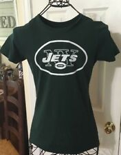 NEW YORK JETS Ladies( Small)( Logo T -Shirt Green) 100% COTTON( NEW NO TAGS)