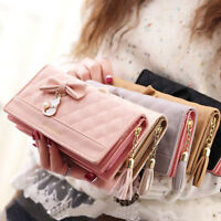 Luxury Women PU Leather Clutch Wallet Long Card Holder Purse Box Handbag Bags