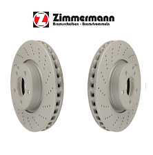 Mercedes W204 W212 W207 With Sport Package Pair Set Of 2 Front Disc Brake Rotors