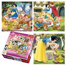 Trefl 3 en 1 20 + 36 + 50 Pièce filles Enfants princesse blanche neige Puzzle Nouveau