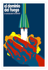 "Spanish movie Poster 4 film""FIRE Dominance""Rocket art.La conquista del fuego."