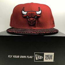 New Era 59Fifty Chicago Bulls Leather  7 1/4 Fitted Baseball Cap 2 Free Post