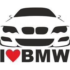 I Love BMW Aufkleber Car Window Bumper Sticker Vinil E36 E39 E38 E46 E60 E90 277