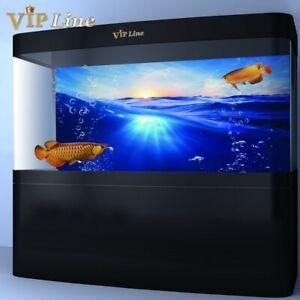 Aquarium Background Poster Blue Ocean PVC Fish Tank Sea Decorations Landscape