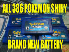 POKEMON SAPPHIRE All 386 SHINY GAME UNLOCKED AUTHENTIC & NEW BATTERY!