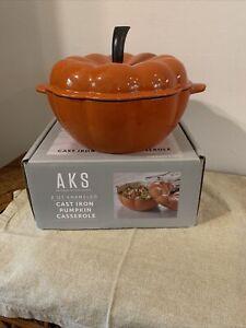 Artisanal Kitchen Supply 2 qt. Enameled Cast Iron Pumpkin Dutch Oven - New