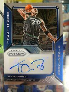 2020-21 Panini Prizm Kevin Garnett Sensational Signatures AUTO SJ