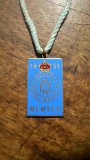 1951 Henley Royal Regatta Enamel Members Badge Stewards / Silver Gold Medal Oars