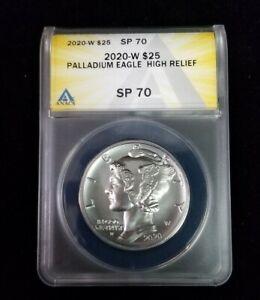 2020-W $25 American Palladium Eagle 1oz. Coin OGP Box & COA CERTIFIED SP70