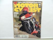 June 1984 Motorcyclist Magazine Daytona Yamaha FJ600 Honda 500 Interceptor L7822