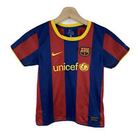 Barcelona FC Kids Football Jersey Size 5-6 Years Official Nike Short Sleeve