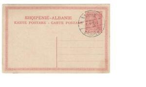 Postal card, Albania, Higgins & Gage #4, cancelled at Vlonë (Vlorë), 1919