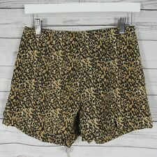 MINKPINK Womens Shorts Small S Orange Animal Print Lonely Planet Cord