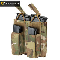 IDOGEAR Tactical Magazine Pouch Double Open Top 5.56&Pistol Hunting Mag Carrier