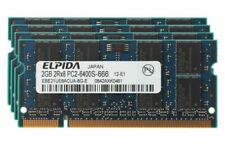Elpida 8GB 4x 2GB 2RX8 DDR2 800MHz PC2-6400S CL6 SODIMM Laptop Memory RAM @MY