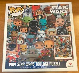 New Sealed Cardinal 1000 Piece Funko Pop! Star Wars Collage Puzzle