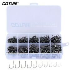 500Pcs 10 Different Size Circle Fishing Fish hook set With Box Stainless Steel