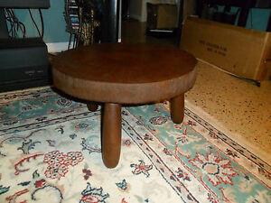 Vintage Rustic Natural Wood Log Display Table Slice Log Cabin Stool Plant Stand