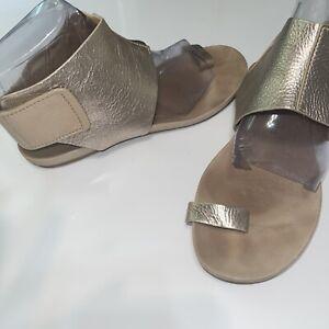 Pedro Garcia Metallic Ankle StrAp Sandal Leather Women's $475 9-9.5 (39.5)