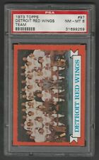 1973-74 Topps Detroit Red Wings Team PSA 8 NM-MT